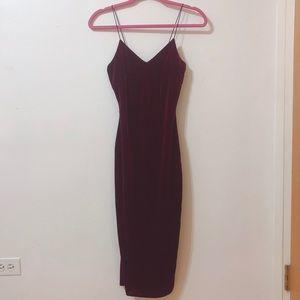 Akita Red Label Maroon Velvet Dress